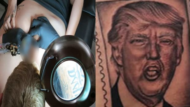 trump anus tattoo