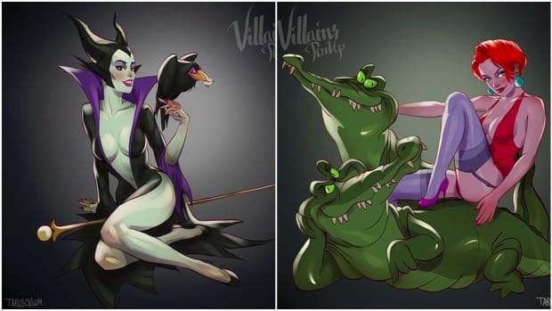pin up maleficent and medusa