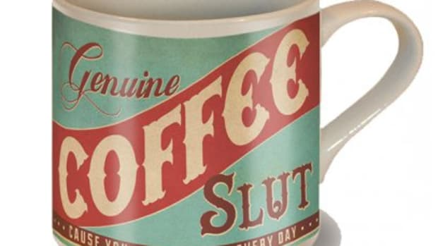 "Available at INKEDSHOP.COM: ""Coffee Slut"" Coffee Mug by Trixie & Milo"