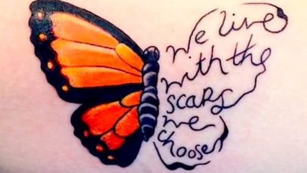 tattoo we live with the scars we choose
