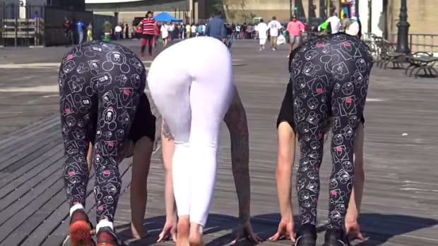 leah jung in yoga pants prank