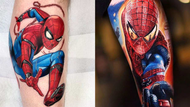 spiderman tattoo fb
