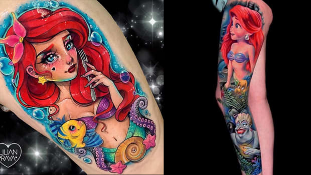 little mermaid tattoo fb