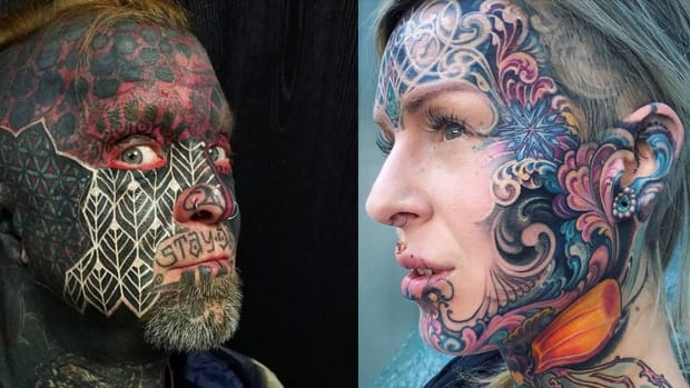 unconventional face tattoos fb
