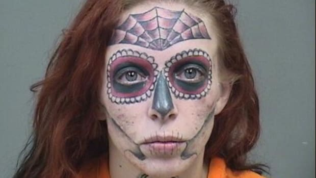 face tattoo mugshot fb