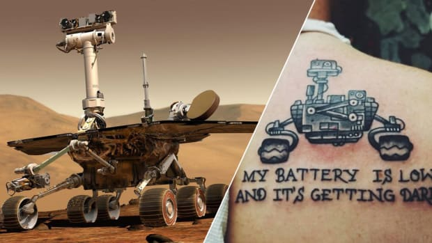 Guy Makes Big Mistake With His NASA's Opportunity Rover Tattoo Tribute, nasa tattoos, space tattoos, space tattoo ideas, opportunity rover, nasa opportunity rover, opportunity rover death, mars rover, curiosity rover, nasa curiosity rover, tattoo mistakes, Charles finch, INKED mag