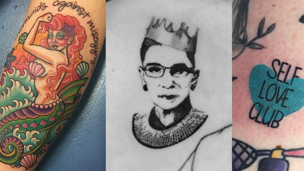 feminist tattoos, feminism tattoos, womens tattoos, tattoos for women, womens history month, womens history month tattoos, RBG tattoos, Pete Davidson ruth Bader Ginsburg tattoo, Rosie the riveter tattoos, female icons, Millie Hull, Jesse Knight, Whang-od Oggay, INKED