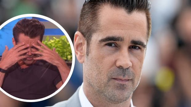 Colin Farrell, Colin Farrell tattoos, Colin Farrell removing tattoos, Colin Farrell James Corden the late late show, James Corden the late late show, Colin Farrell dumbo, INKED