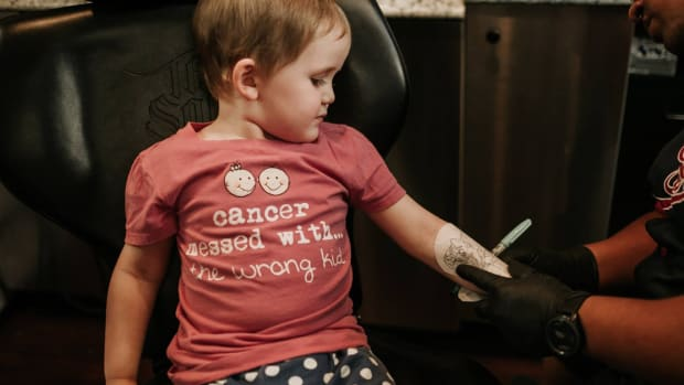 Ink Wolves Tattoos Tampa, Ink Wolves Tattoos, 3-Year-Old With Neuroblastoma Gets Her Wish Fulfilled With Disney Tattoo Sleeves, Trinity D'Autorio, Neuroblastoma, Neuroblastoma tattoos, Skyla D'Autorio, Inked For A Cause, tattoos for cancer, tattoos for kids, Disney tattoos, Disney tattoo ideas, INKED, tess adamakos, Paisley Sunshine Photography