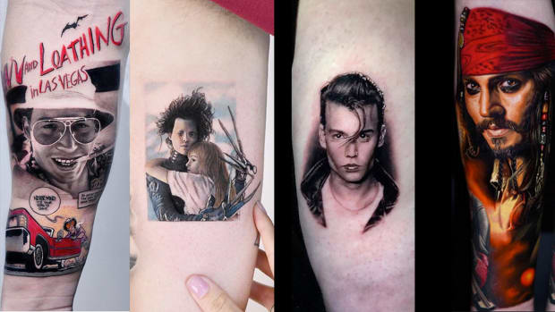 johnny depp tattoos fb