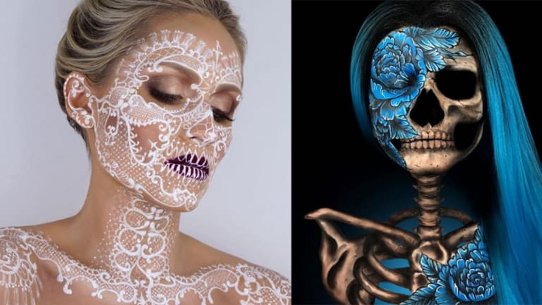 12 Enchanting Sugar Skull Makeup Looks For Halloween