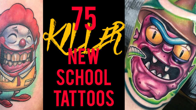 75 Killer New School Tattoos by Some of the World's Best Artists