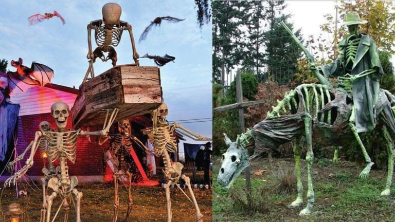 17 Front Lawns That Won Halloween