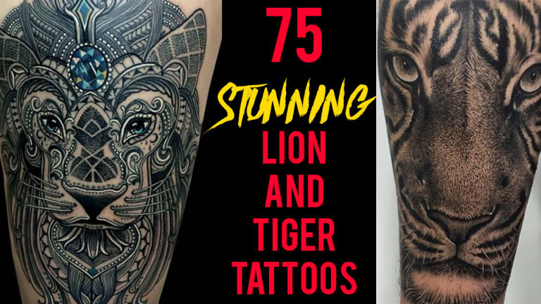 75 Stunning Lion and Tiger Tattoos by Some of the World's Best Artists