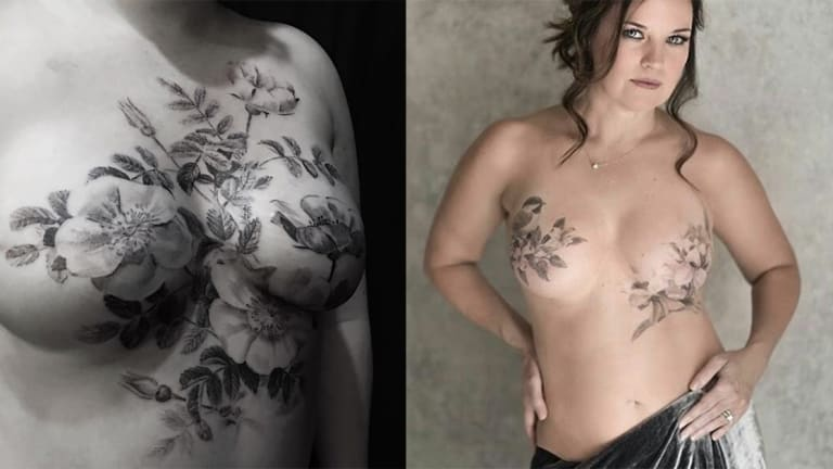 50 Breathtaking and Inspiring Mastectomy Tattoos for Breast Cancer Awareness Month
