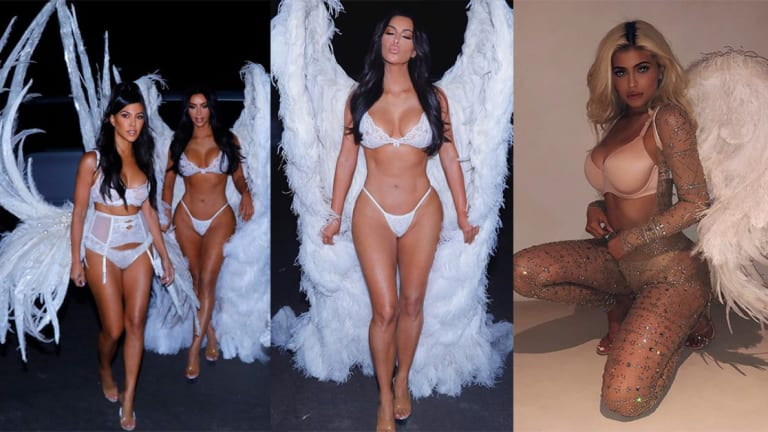 The Kardashian Sisters Owned Halloween as Sexy Angels