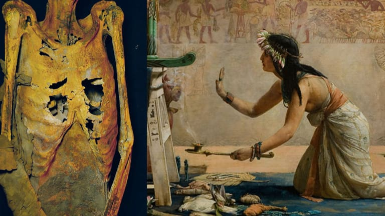 3,000 Year Old Tattooed Priestess Discovered in Egyptian Tomb