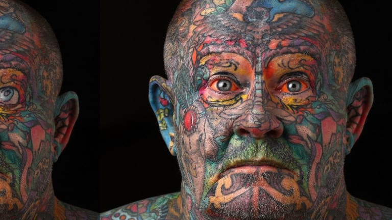 60-Year-Old Ex Gangster Tattoos Whole Body Out of Self-Hatred
