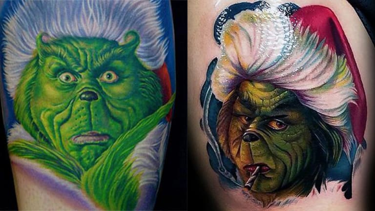 25 Best Grinch Tattoos For Christmas Lovers