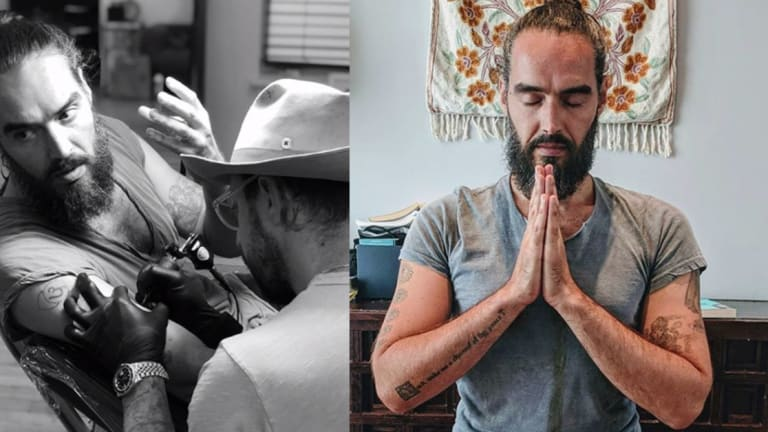 Russell Brand Pays Homage to His Faith with a New Tattoo