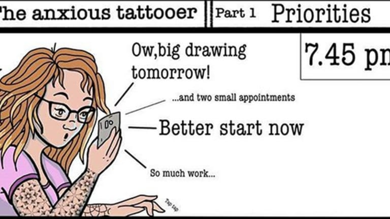 Day in the Life of a Tattoo Artist: Comic Strip Edition!
