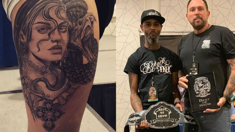 Black Ink Tattoo Artist Defends Copying After Winning Best of Show