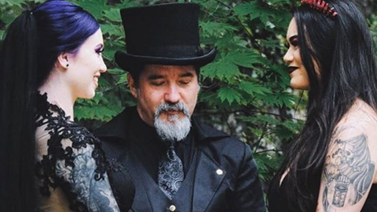 This Goth Lesbian Wedding is Almost Too Beautiful to Be Real