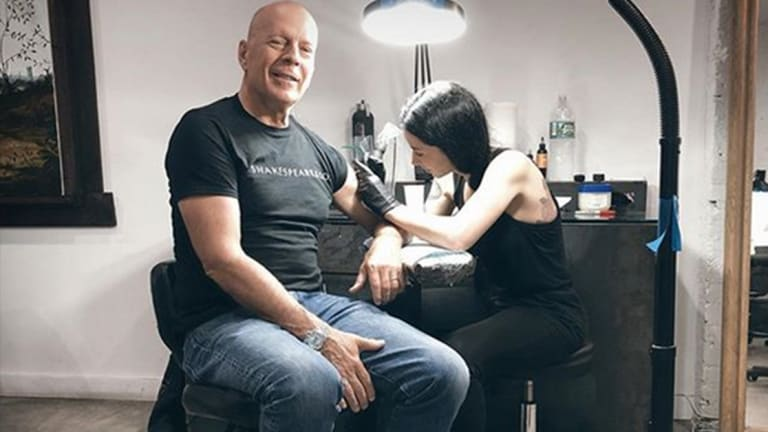 Bruce Willis Visits Top NYC Tattoo Artist For a New Piece