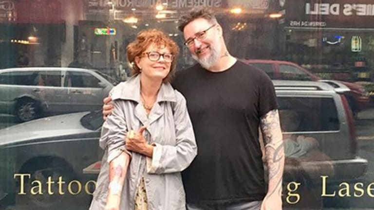 Susan Sarandon Shows Off a Brand New Tattoo