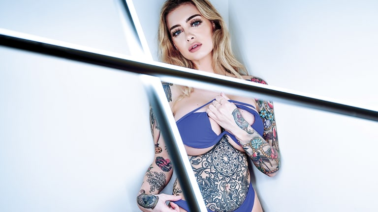 Selina Christoforou Lights Up Her Debut Inked Spread