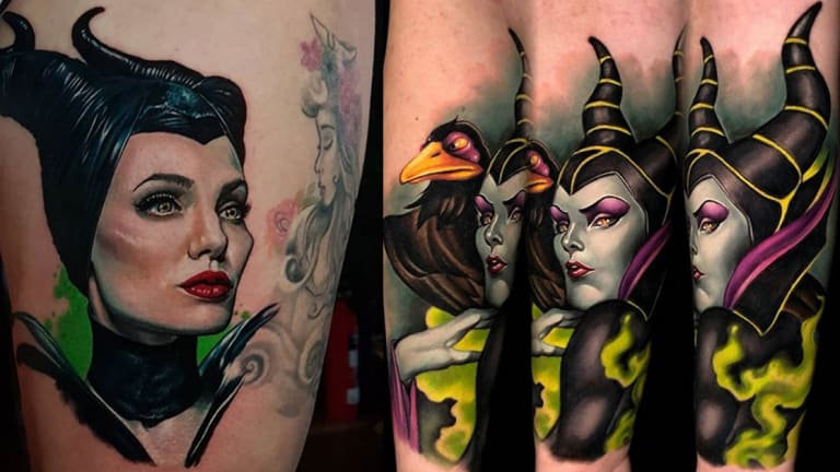 25 Elegant and Evil Maleficent Tattoos