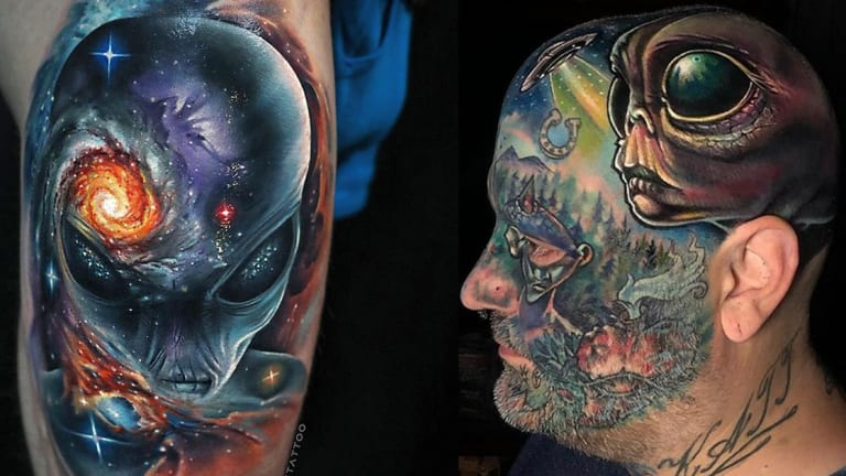 20 Alien Tattoos That Will Make You Want to Visit Area 51