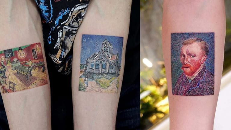 Celebrate the Life and Legacy of Vincent van Gogh Through Tattoos