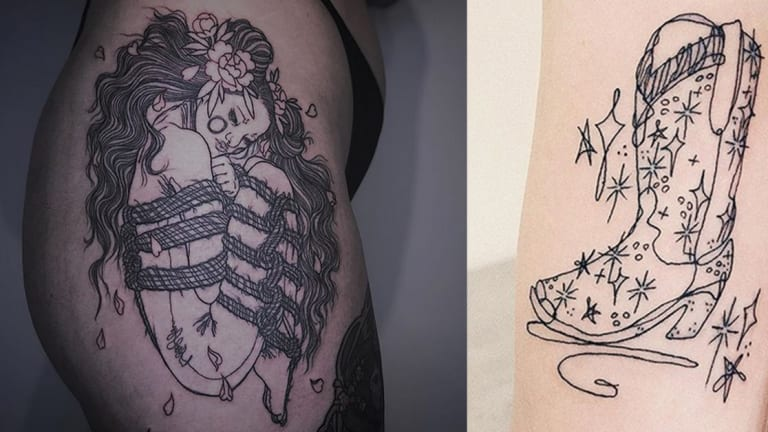 Celebrate National Coloring Book Day with 30 Illustrative Tattoos