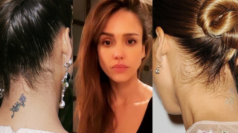 Jessica Alba Regrets A Couple Tattoos From Her 17-Year-Old Youth