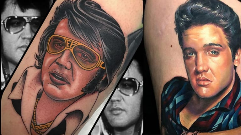 Honor the King with 20 Rocking Elvis Tattoos