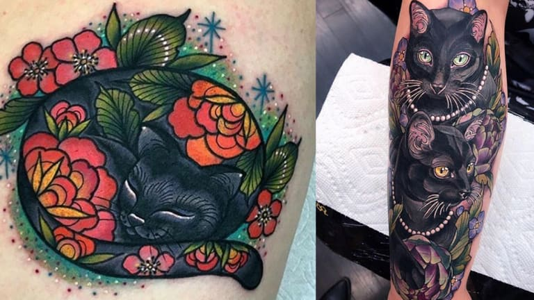 Celebrate National Black Cat Appreciation Day with 30 Purrfect Tattoos