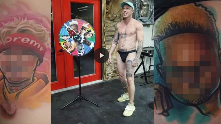 Man Spins a Wheel to See Which Influencers He Should Get Tattooed on His Buttchecks