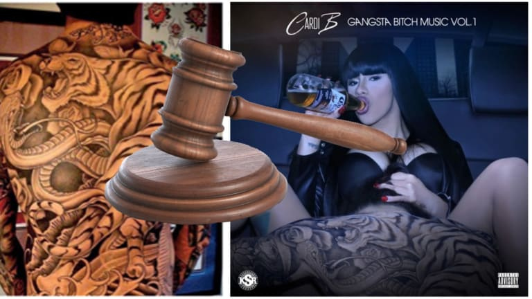 "$5 Million Tattoo Infringement Lawsuit Follows Cardi B's Album Cover for ""Gangsta Bitch Music Vol. 1"""