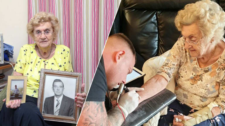94-Year-Old Hilda West Gets Her First Tattoo, Making Her One Of The Oldest People To Get Tattooed In The UK
