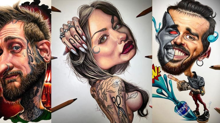 This Artist Makes Caricatures of World Renowned Tattooers