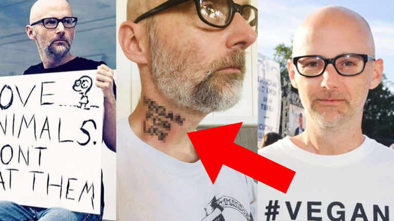 You Won't Believe Moby's Shocking Vegan Neck Tattoo