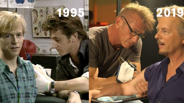 David Spade Gets Tattooed by Sean Penn To Memorialize Chris Farley