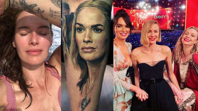Dr. Woo Tattooed 'Game Of Thrones' Star Lena Headey with a Scarab