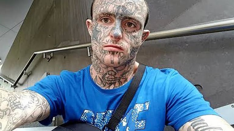 Face-Tattooed Father is Jailed For Damages That Cost More Than His Bad Tattoo Collection