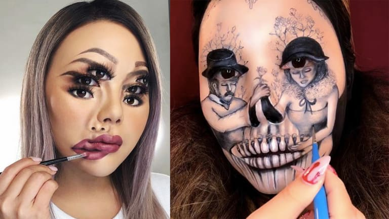 This Artist Paints Incredible Masterpieces—On Her Face!