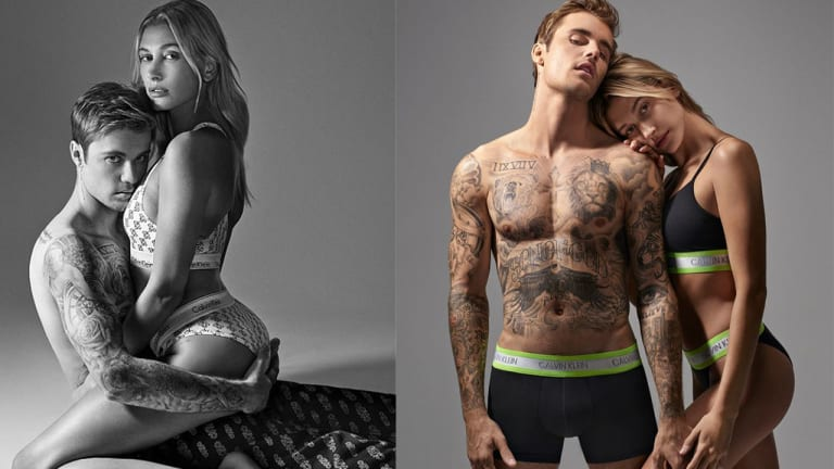 Bieber and Bieber Get Close for Calvin Klein