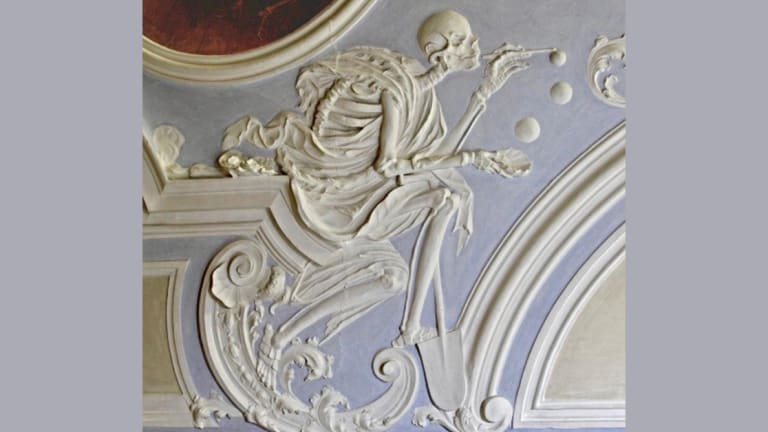 Skeletons, Ancient Weapons and Bubbles: Take a Look at This Haunting 18th Century Chapel Art