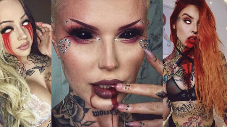 This Artist Turns Tattoo Models Into Sexy Yet Deadly Demons