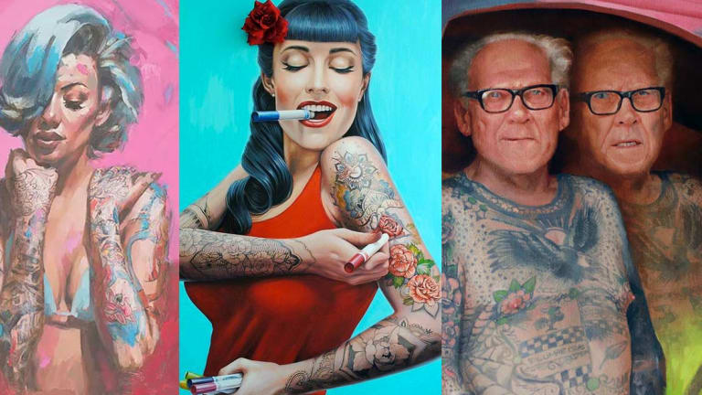 15 Artists That Depict The Tattooed Community Through Incredible Large-Scale Art